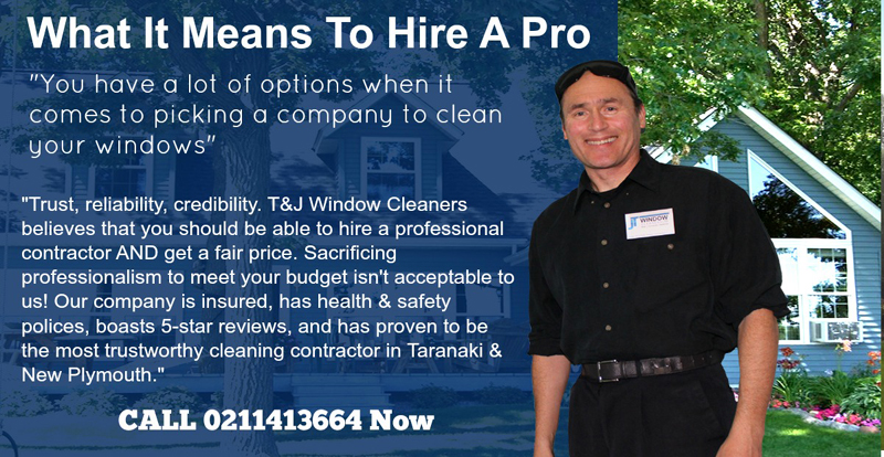 What it means to hire a pro window cleaner and house washing